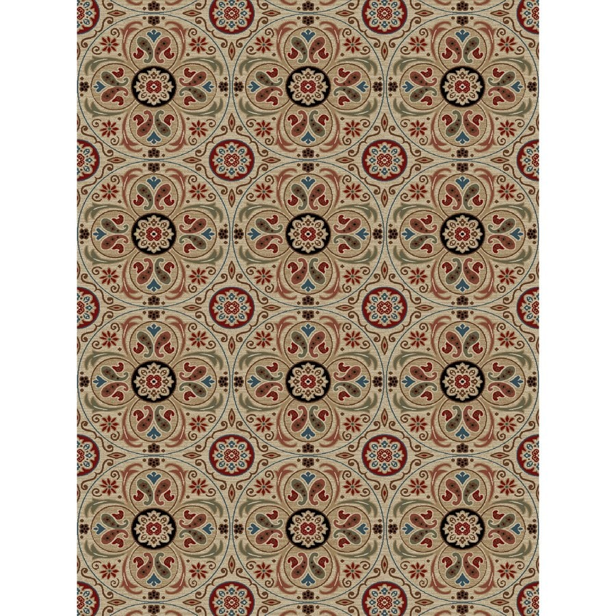 Concord Global Kensington Ivory Rectangular Indoor Woven Nature Area Rug (Common: 8 x 11; Actual: 94-in W x 126-in L x 7.83-ft Dia)