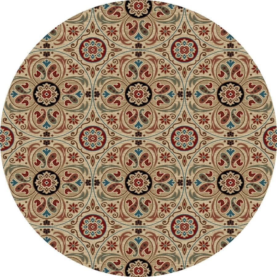 Concord Global Kensington Ivory Round Indoor Woven Nature Area Rug (Common: 8 x 8; Actual: 94-in W x 94-in L x 7.83-ft Dia)