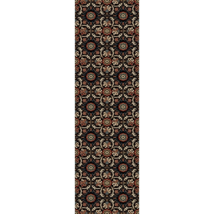 Concord Global Kensington Black Rectangular Indoor Woven Nature Runner (Common: 2 x 7; Actual: 26-in W x 87-in L x 2.17-ft Dia)