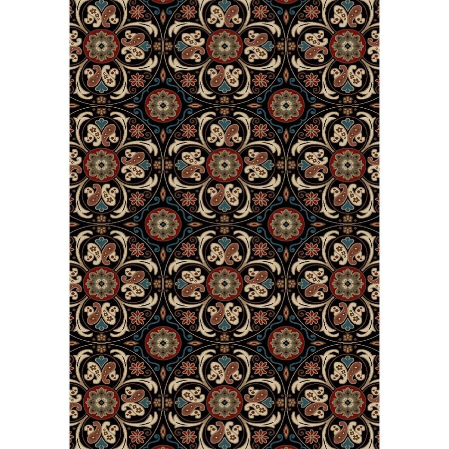 Concord Global Kensington Black Rectangular Indoor Woven Nature Area Rug (Common: 7 x 10; Actual: 79-in W x 114-in L x 6.58-ft Dia)