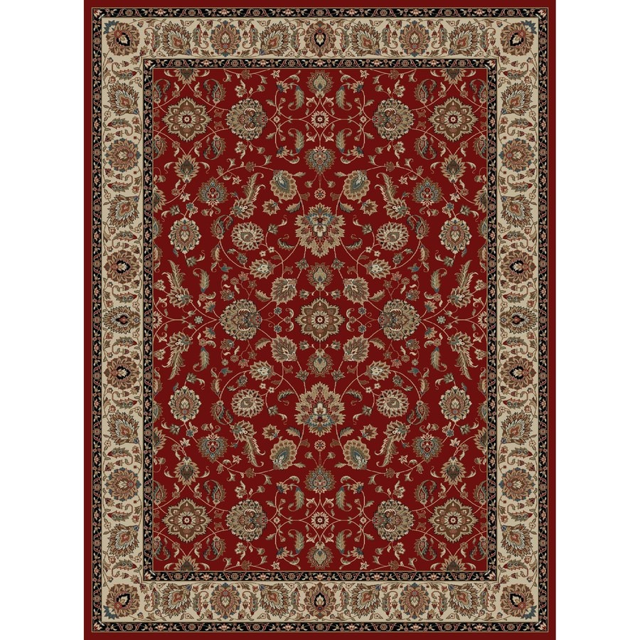 Concord Global Kensington Red Rectangular Indoor Woven Oriental Area Rug (Common: 9 x 12; Actual: 111-in W x 150-in L x 9.25-ft Dia)