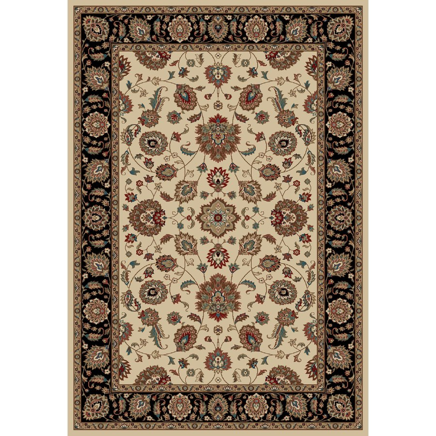Concord Global Kensington Ivory Rectangular Indoor Woven Oriental Area Rug (Common: 7 x 10; Actual: 79-in W x 114-in L x 6.58-ft Dia)