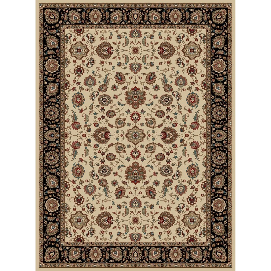 Concord Global Kensington Ivory Rectangular Indoor Woven Oriental Area Rug (Common: 9 x 12; Actual: 111-in W x 150-in L x 9.25-ft Dia)