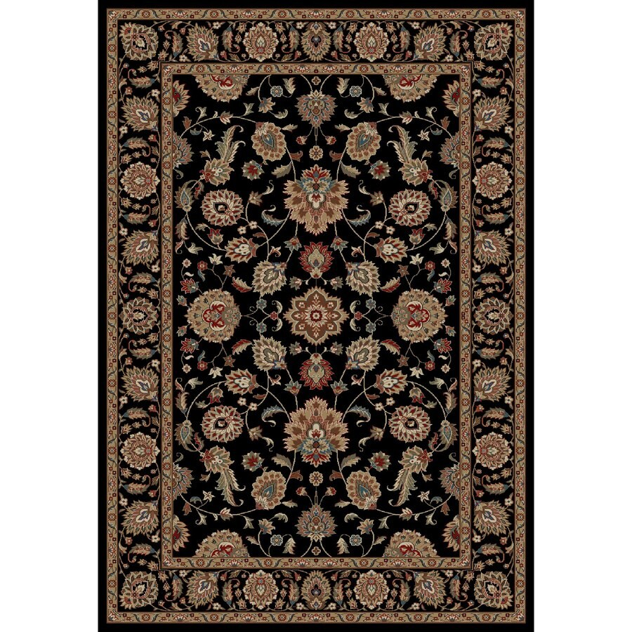 Concord Global Kensington Black Rectangular Indoor Woven Oriental Area Rug (Common: 7 x 10; Actual: 79-in W x 114-in L x 6.58-ft Dia)