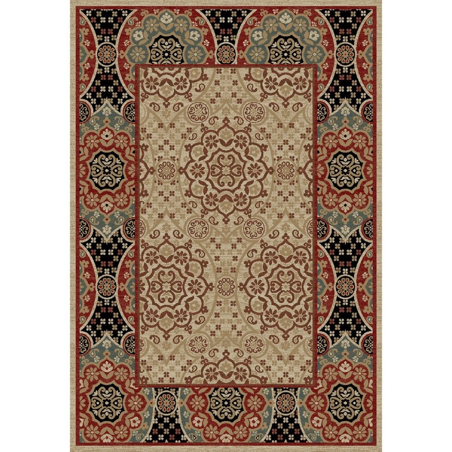 Concord Global Kensington Multicolorcolor Rectangular Indoor Woven Oriental Area Rug (Common: 7 x 10; Actual: 79-in W x 114-in L x 6.58-ft Dia)