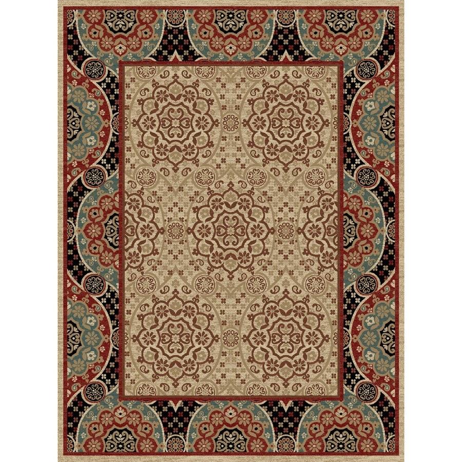 Concord Global Kensington Multicolorcolor Rectangular Indoor Woven Oriental Area Rug (Common: 8 x 11; Actual: 94-in W x 126-in L x 7.83-ft Dia)