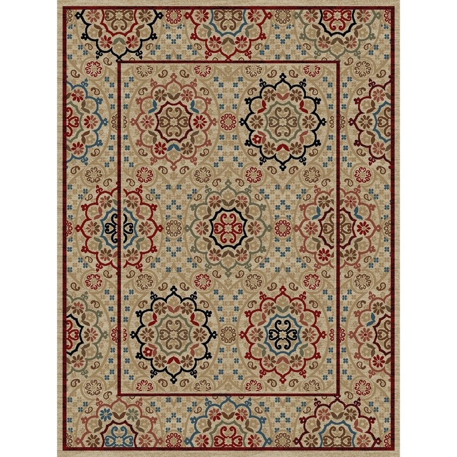 Concord Global Kensington Ivory Rectangular Indoor Woven Oriental Area Rug (Common: 8 x 11; Actual: 94-in W x 126-in L x 7.83-ft Dia)
