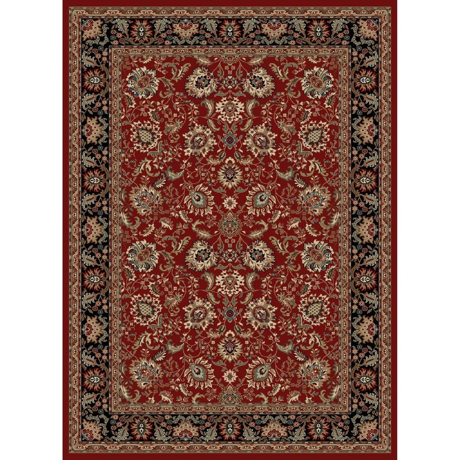 Concord Global Kensington Red Rectangular Indoor Woven Oriental Area Rug (Common: 5 x 7; Actual: 63-in W x 87-in L x 5.25-ft Dia)