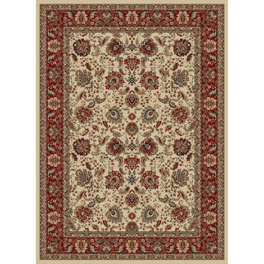 Concord Global Kensington Ivory Rectangular Indoor Woven Oriental Area Rug (Common: 5 x 7; Actual: 63-in W x 87-in L x 5.25-ft Dia)