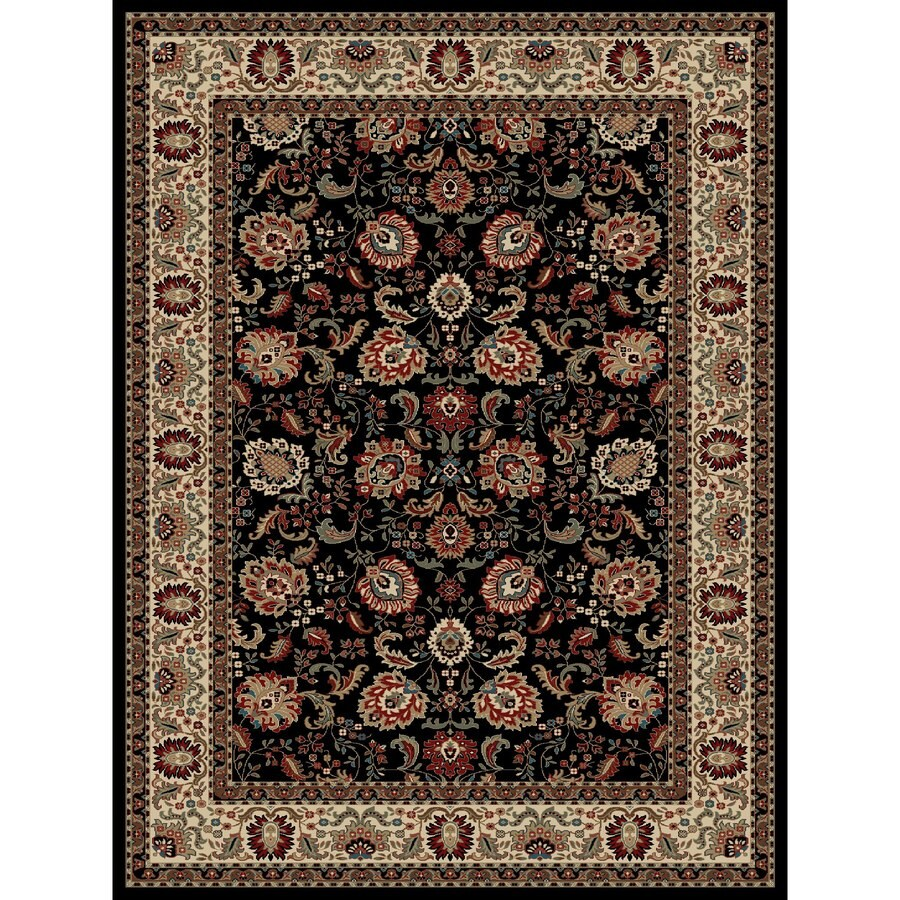 Concord Global Kensington Black Rectangular Indoor Woven Oriental Area Rug (Common: 8 x 11; Actual: 94-in W x 126-in L x 7.83-ft Dia)