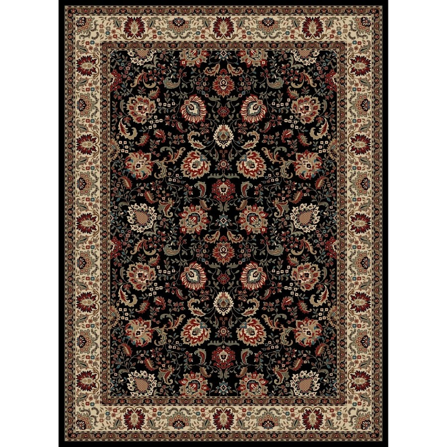 Concord Global Kensington Black Rectangular Indoor Woven Oriental Area Rug (Common: 9 x 12; Actual: 111-in W x 150-in L x 9.25-ft Dia)