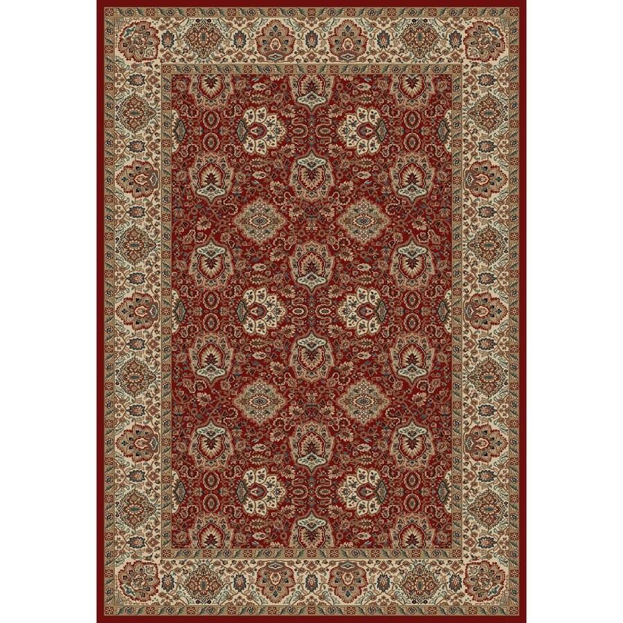 Concord Global Kensington Red Rectangular Indoor Woven Oriental Area Rug (Common: 7 x 10; Actual: 79-in W x 114-in L x 6.58-ft Dia)