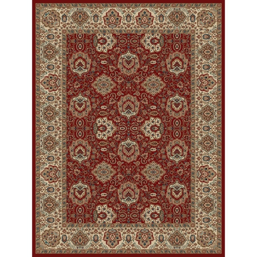 Concord Global Kensington Red Rectangular Indoor Woven Oriental Area Rug (Common: 8 x 11; Actual: 94-in W x 126-in L x 7.83-ft Dia)