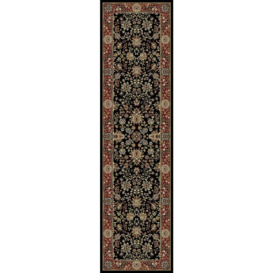 "Concord Global Antalya Sarouk Black 2'X7'3"" Antalya Area Rug"