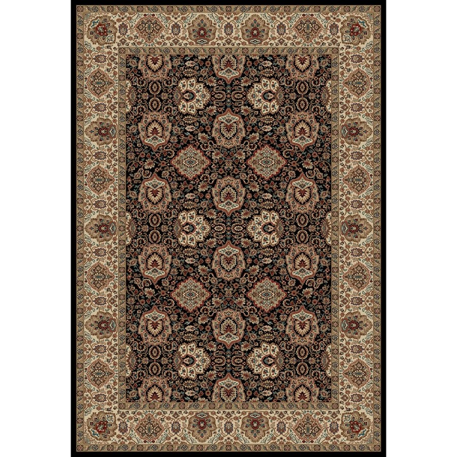 Concord Global Kensington Black Rectangular Indoor Woven Oriental Area Rug (Common: 7 x 10; Actual: 79-in W x 114-in L x 6.58-ft Dia)