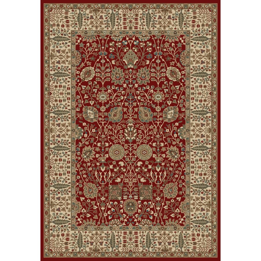 Concord Global Kensington Red Rectangular Indoor Woven Oriental Area Rug (Common: 7 x 10; Actual: 79-in W x 114-in L x 6.58-ft Dia)