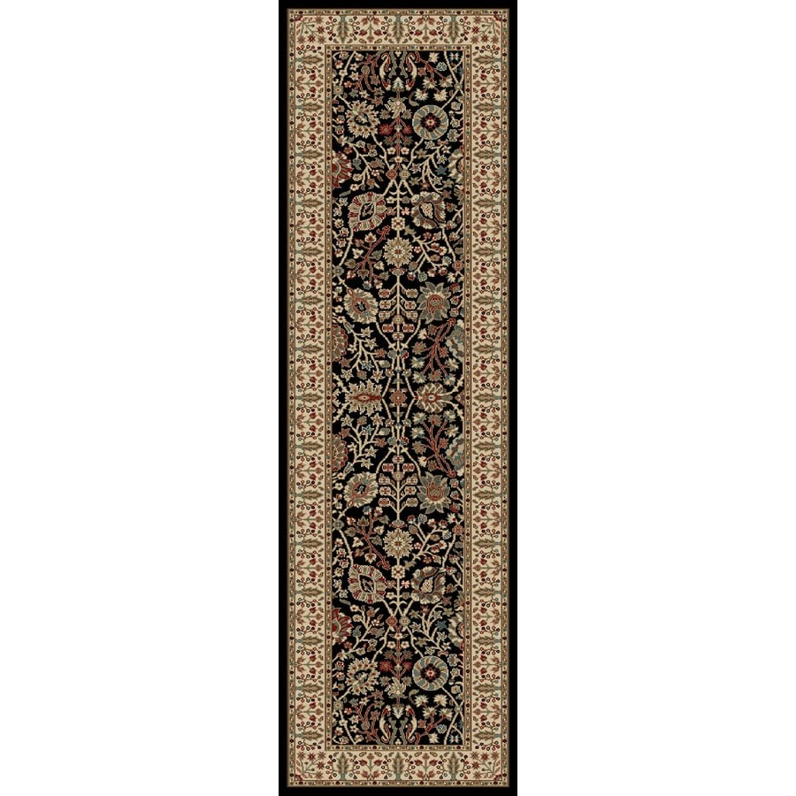 Concord Global Kensington Black Rectangular Indoor Woven Oriental Runner (Common: 2 x 7; Actual: 26-in W x 87-in L x 2.17-ft Dia)