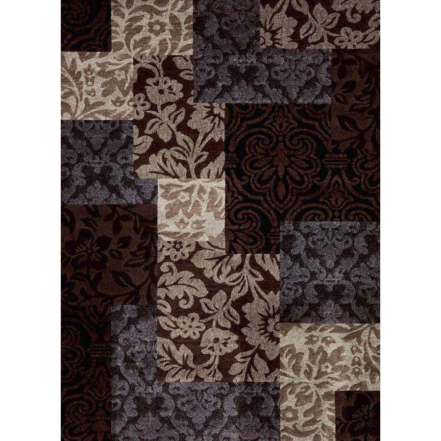 Concord Global Winston Brown Rectangular Indoor Woven Area Rug (Common: 7 x 9; Actual: 6.58-ft W x 9.25-ft L x 6.58-ft Dia)