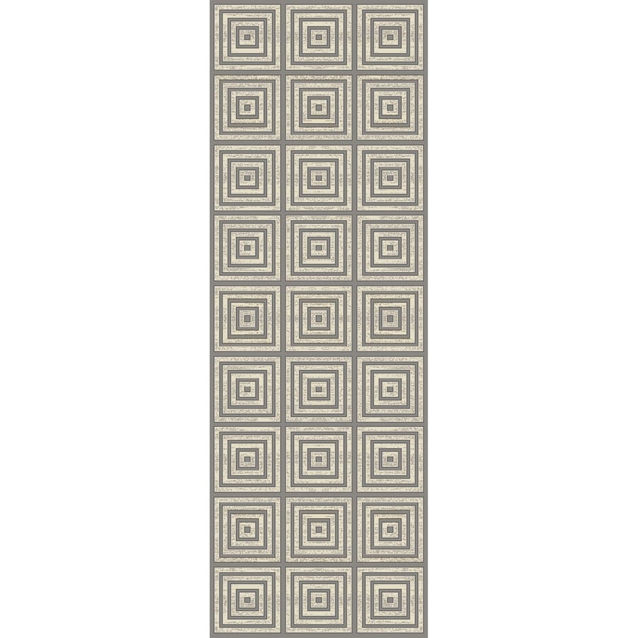 Concord Global Glam Gray Rectangular Indoor Woven Runner (Common: 2 x 8; Actual: 26-in W x 91-in L x 2.17-ft Dia)
