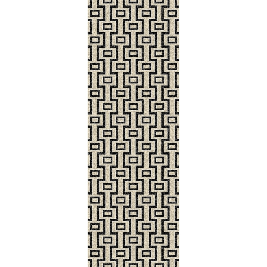 Concord Global Glam Beige Rectangular Indoor Woven Runner (Common: 2 x 8; Actual: 26-in W x 91-in L x 2.17-ft Dia)