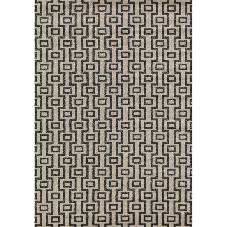 Concord Global Glam Beige Rectangular Indoor Woven Area Rug (Common: 3 x 5; Actual: 3.25-ft W x 4.58-ft L x 3.25-ft Dia)
