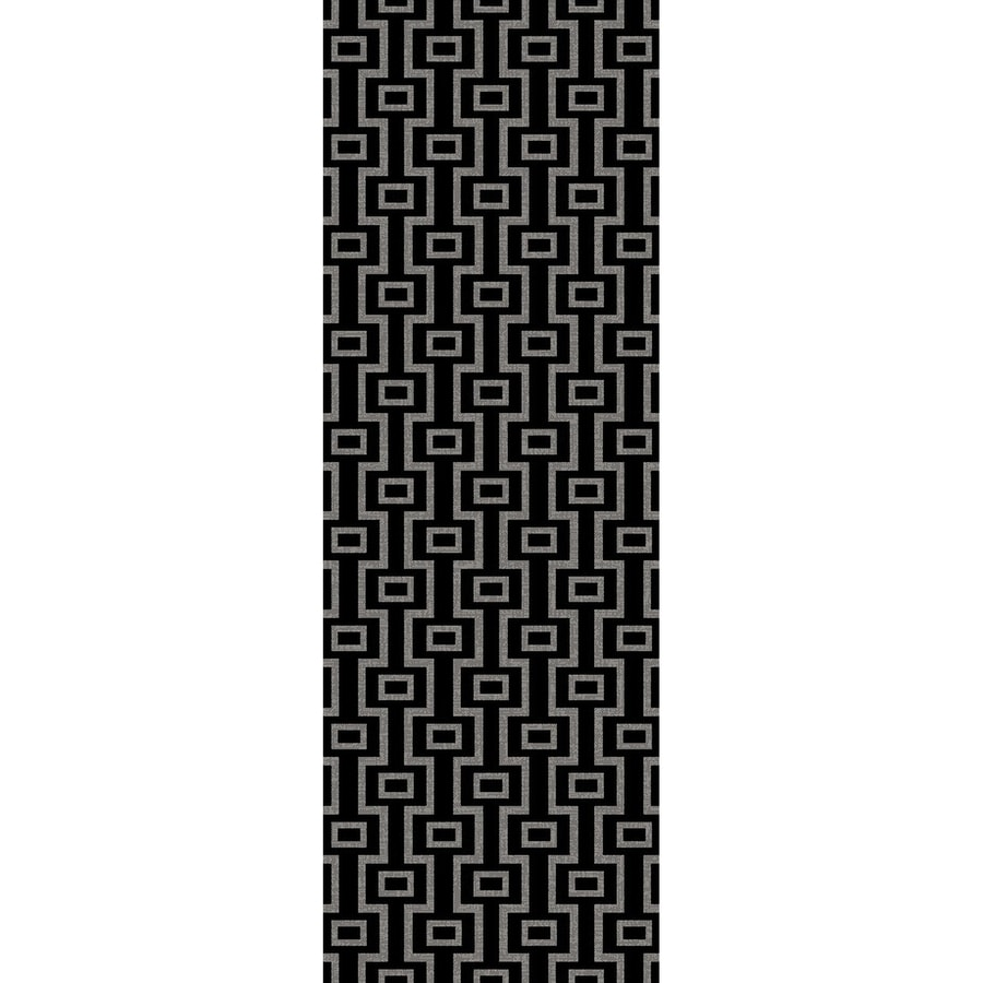 Concord Global Glam Black Rectangular Indoor Woven Runner (Common: 2 x 8; Actual: 2.17-ft W x 7.58-ft L x 2.17-ft Dia)