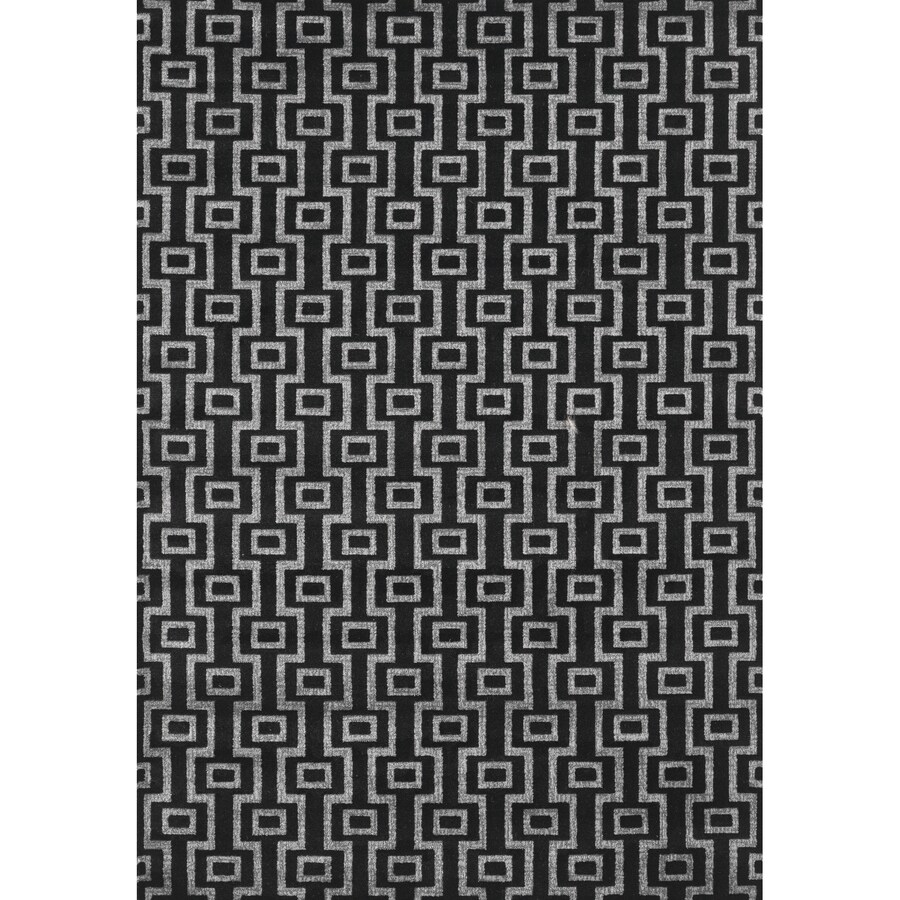 Concord Global Glam Black Rectangular Indoor Machine-Made Area Rug (Common: 3 x 5; Actual: 3.25-ft W x 4.58-ft L x 3.25-ft Dia)