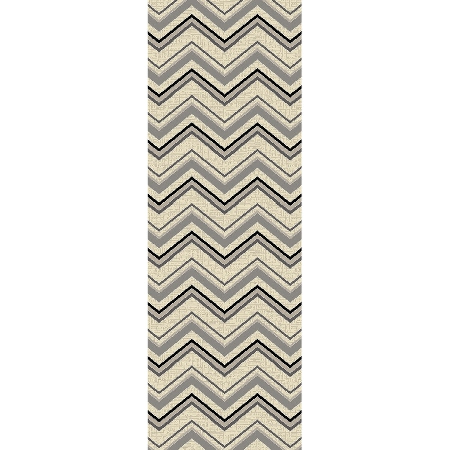 Concord Global Glam Ivory Rectangular Indoor Woven Runner (Common: 2 x 8; Actual: 2.17-ft W x 7.58-ft L x 2.17-ft Dia)