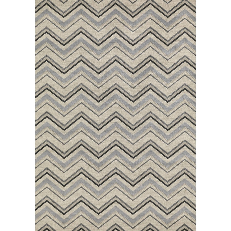 Concord Global Glam Ivory Rectangular Indoor Machine-Made Area Rug (Common: 7 x 9; Actual: 6.58-ft W x 9.25-ft L x 6.58-ft Dia)