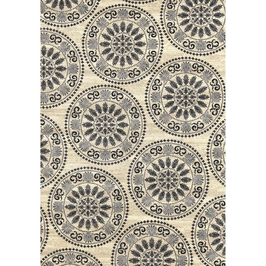Concord Global Glam Ivory Rectangular Indoor Woven Area Rug (Common: 5 x 7; Actual: 60-in W x 84-in L x 5-ft Dia)