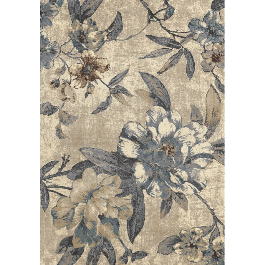 Concord Global Glam Ivory Rectangular Indoor Woven Nature Area Rug (Common: 3 x 5; Actual: 3.25-ft W x 4.58-ft L x 3.25-ft Dia)