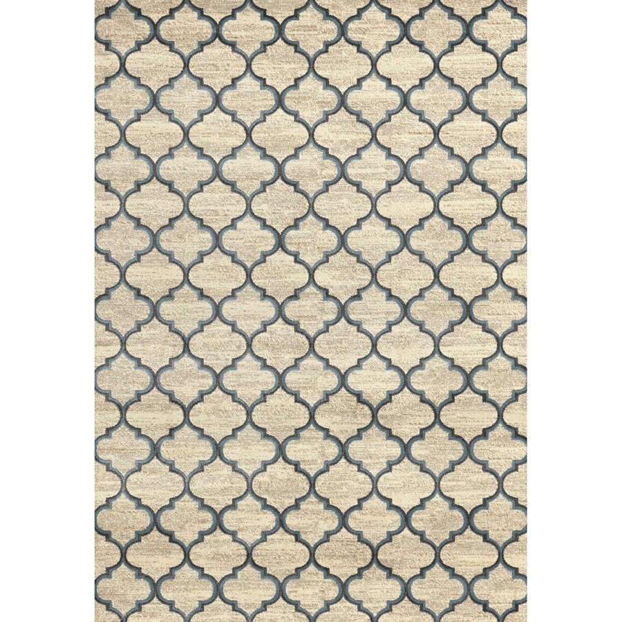 Concord Global Glam Ivory Rectangular Indoor Woven Area Rug (Common: 8 x 11; Actual: 105-in W x 126-in L x 8.75-ft Dia)