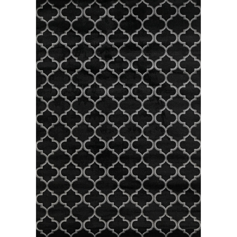Concord Global Glam Black Rectangular Indoor Woven Area Rug (Common: 5 x 7; Actual: 60-in W x 84-in L x 5-ft Dia)