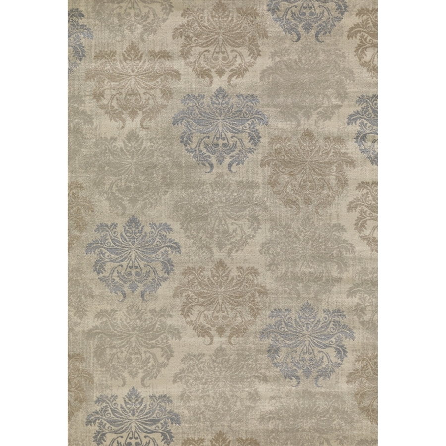 Concord Global Glam Ivory Rectangular Indoor Woven Area Rug (Common: 5 x 7; Actual: 5-ft W x 7-ft L x 5-ft Dia)