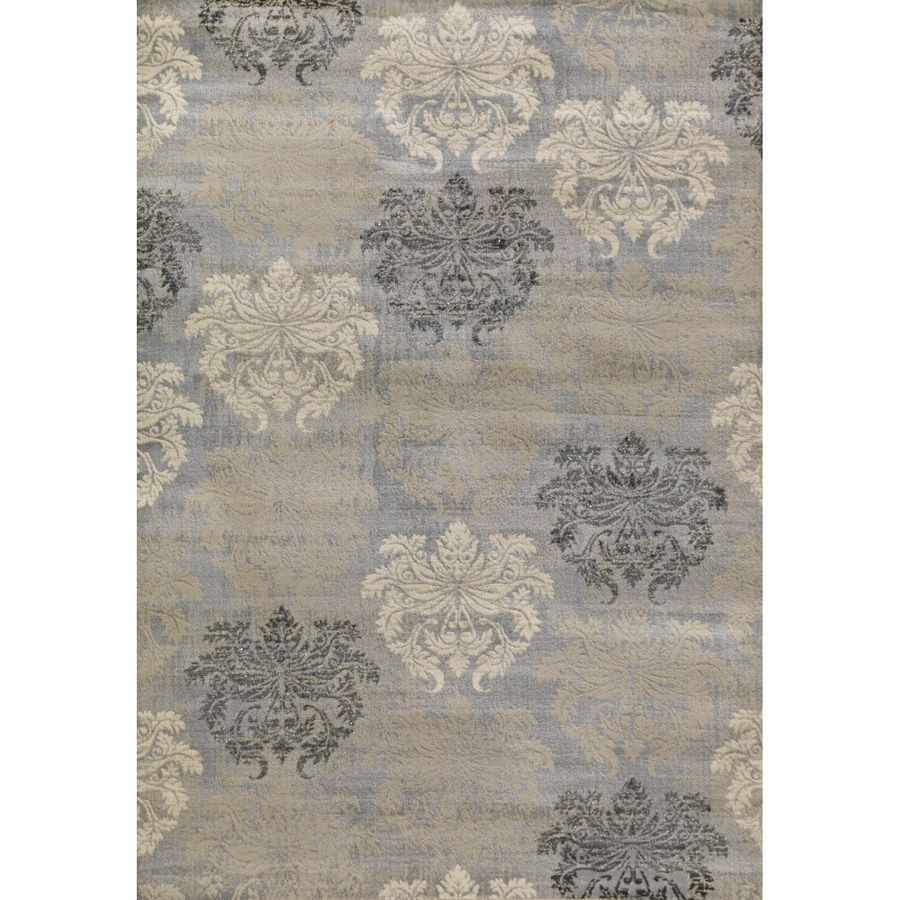 Concord Global Glam Gray Rectangular Indoor Woven Area Rug (Common: 7 x 9; Actual: 79-in W x 111-in L x 6.58-ft Dia)