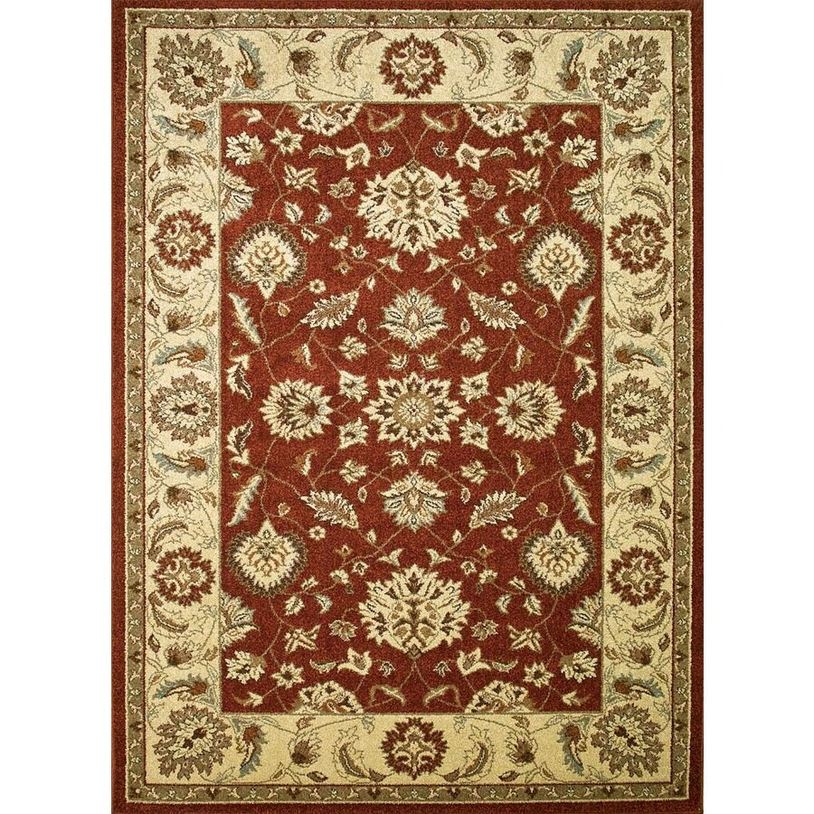 Concord Global Hampton Red Rectangular Indoor Woven Oriental Area Rug (Common: 5 x 7; Actual: 5.25-ft W x 7.25-ft L x 5.25-ft Dia)