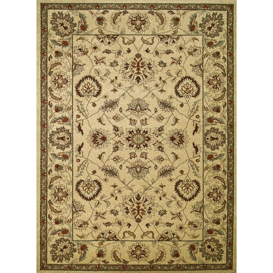 Concord Global Hampton Ivory Rectangular Indoor Woven Oriental Area Rug (Common: 3 x 5; Actual: 3.25-ft W x 4.58-ft L x 3.25-ft Dia)