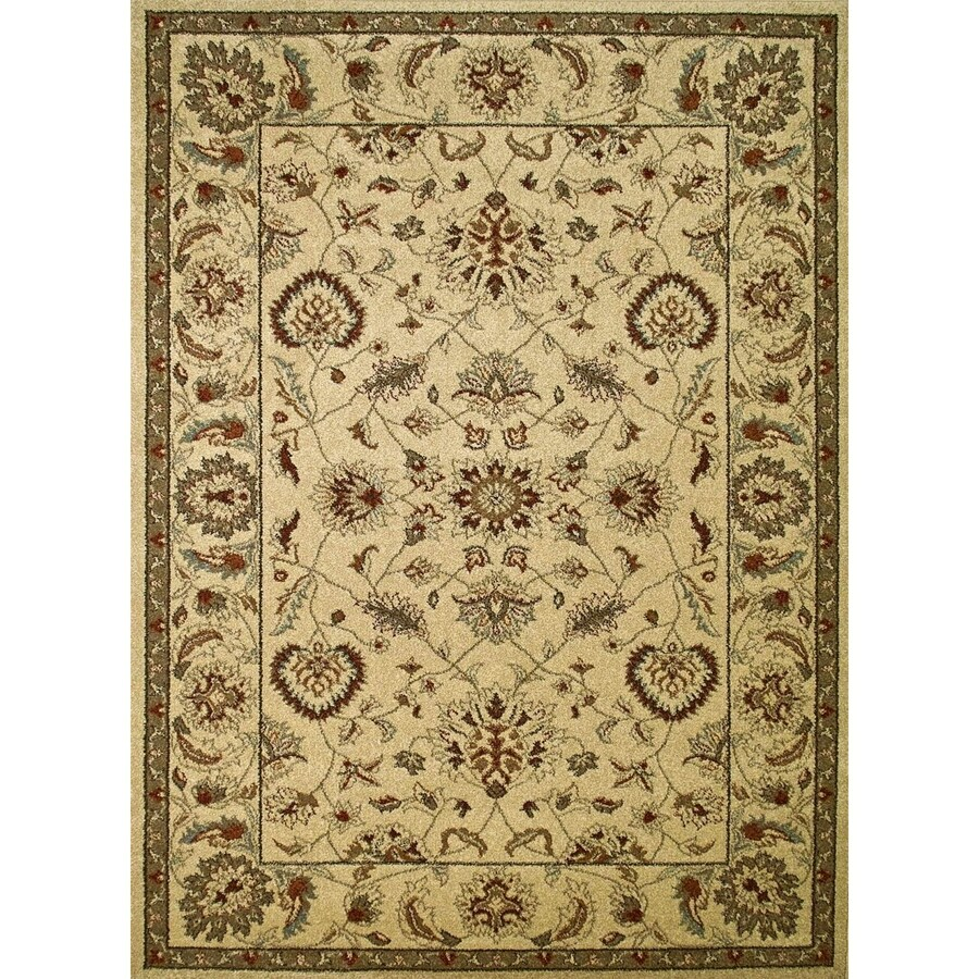 Concord Global Hampton Ivory Rectangular Indoor Woven Oriental Area Rug (Common: 3 x 5; Actual: 39-in W x 55-in L x 3.25-ft Dia)