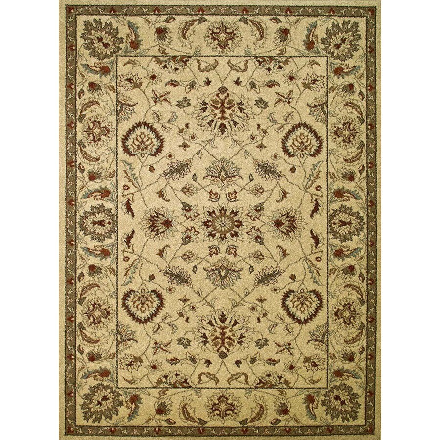 Concord Global Hampton Ivory Rectangular Indoor Machine-Made Oriental Area Rug (Common: 8 x 11; Actual: 7.83-ft W x 10.5-ft L x 7.83-ft Dia)
