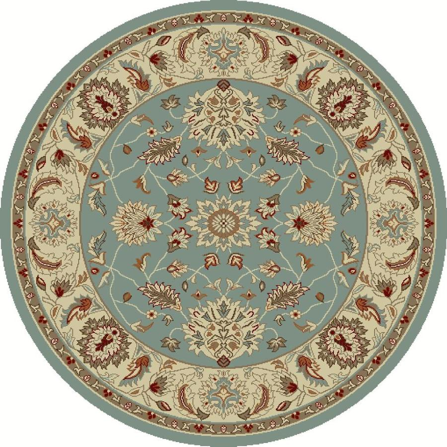 Concord Global Hampton Blue Round Indoor Woven Oriental Area Rug (Common: 5 x 5; Actual: 5.25-ft W x 5.25-ft L x 5.25-ft Dia)