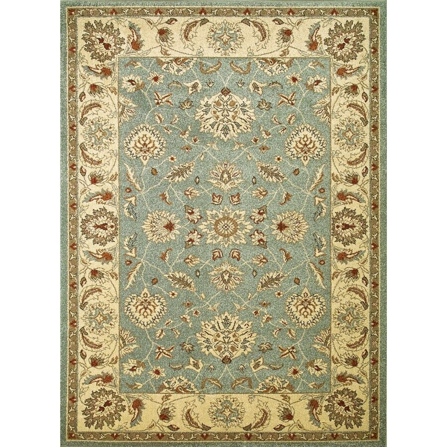 Concord Global Hampton Blue Rectangular Indoor Woven Oriental Area Rug (Common: 3 x 5; Actual: 3.25-ft W x 4.58-ft L x 3.25-ft Dia)