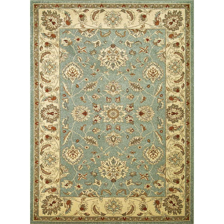 Concord Global Hampton Blue Rectangular Indoor Woven Oriental Area Rug (Common: 7 x 10; Actual: 6.58-ft W x 9.5-ft L x 6.58-ft Dia)