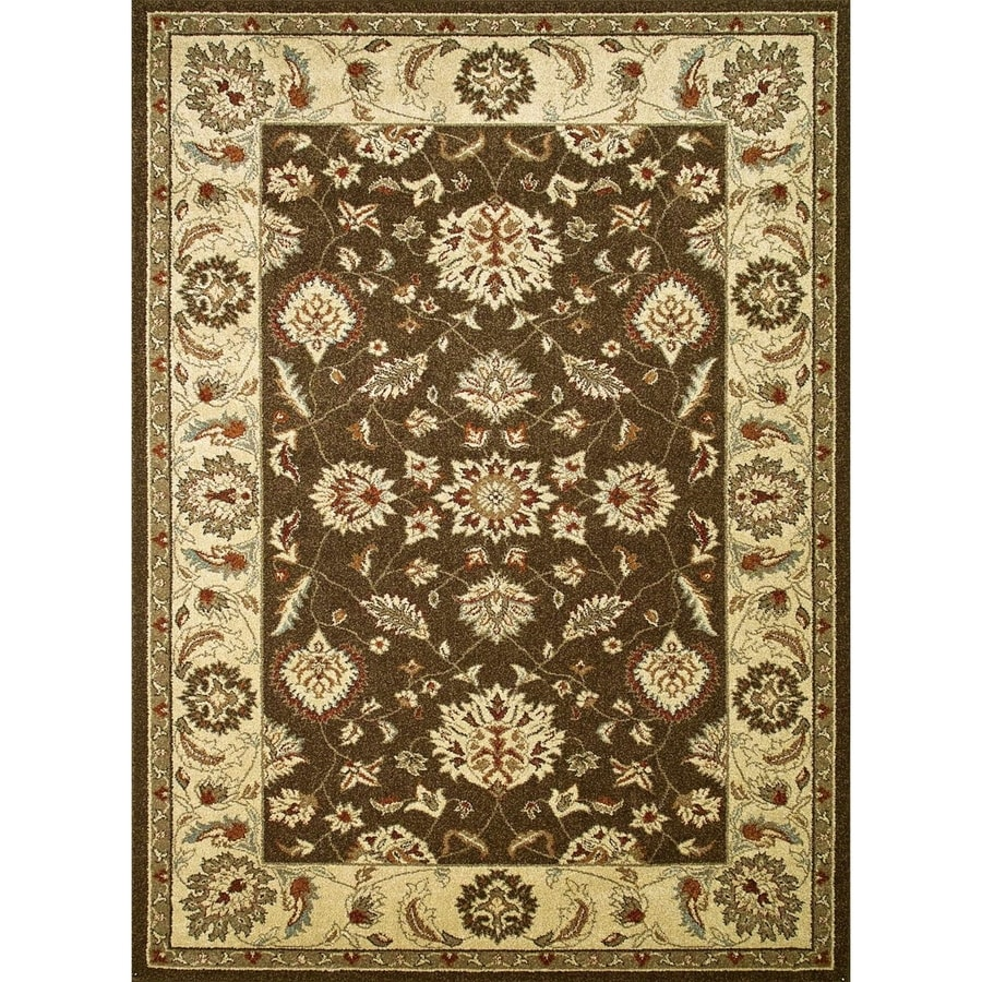 Concord Global Hampton Brown Rectangular Indoor Machine-made Oriental Area Rug (Common: 3 x 5; Actual: 3.25-ft W x 4.58-ft L x 3.25-ft Dia)