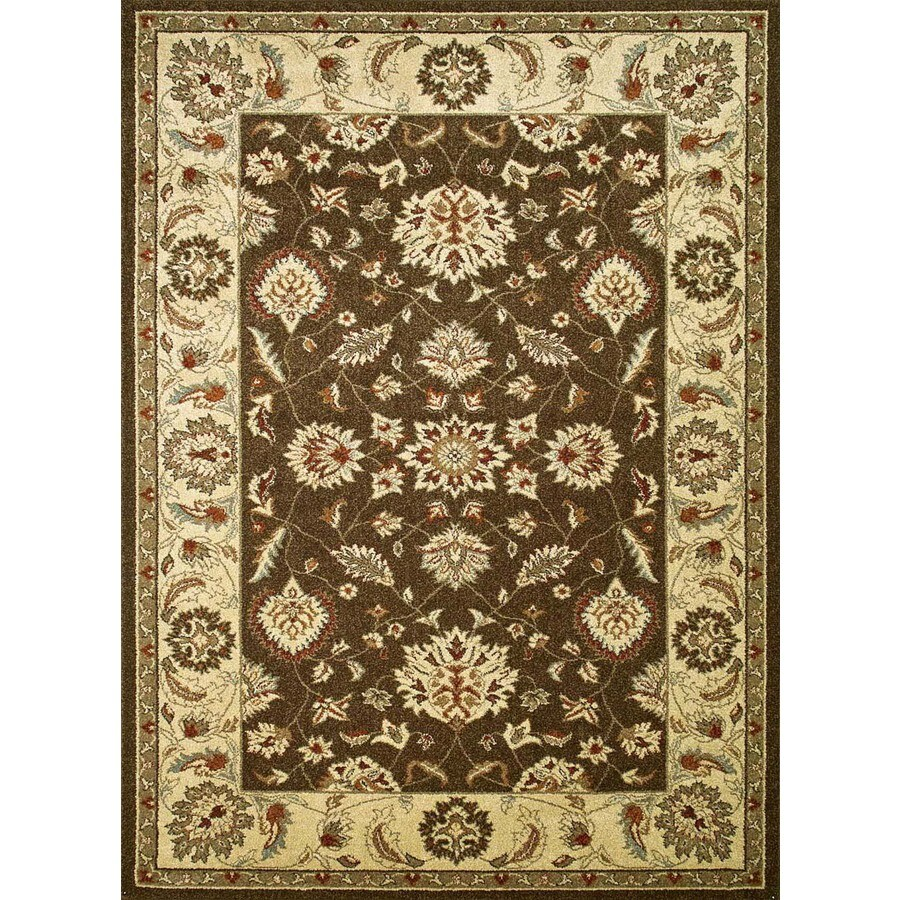 Concord Global Hampton Brown Rectangular Indoor Oriental Area Rug (Common: 8 x 11; Actual: 7.83-ft W x 10.5-ft L x 7.83-ft dia)