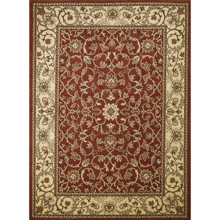 Concord Global Hampton Red Rectangular Indoor Woven Oriental Area Rug (Common: 3 x 5; Actual: 3.25-ft W x 4.58-ft L x 3.25-ft Dia)
