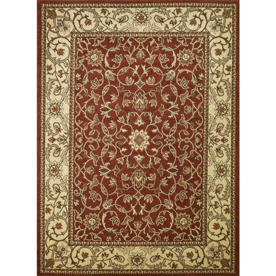 Concord Global Hampton Red Rectangular Indoor Woven Oriental Area Rug (Common: 7 x 10; Actual: 6.58-ft W x 9.5-ft L x 6.58-ft Dia)