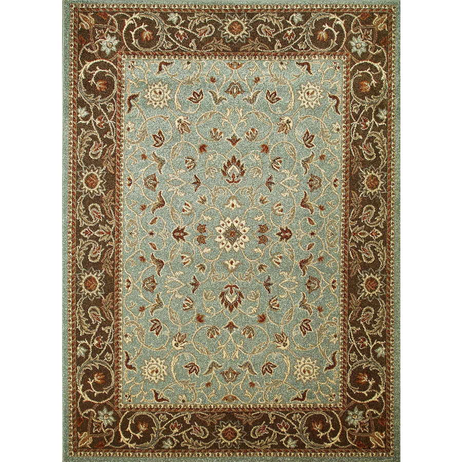 Concord Global Hampton Blue Rectangular Indoor Woven Oriental Area Rug (Common: 7 x 10; Actual: 79-in W x 114-in L x 6.58-ft Dia)