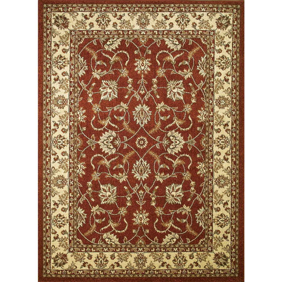 Concord Global Hampton Red Rectangular Indoor Woven Oriental Area Rug (Common: 5 x 7; Actual: 63-in W x 87-in L x 5.25-ft Dia)