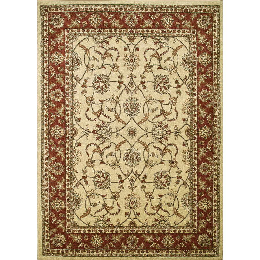 Concord Global Hampton Ivory Rectangular Indoor Woven Oriental Area Rug (Common: 5 x 7; Actual: 5.25-ft W x 7.25-ft L x 5.25-ft Dia)