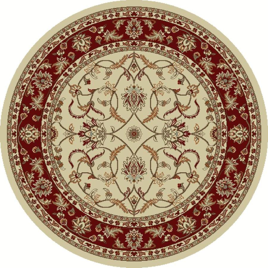 Concord Global Hampton Ivory Round Indoor Woven Oriental Area Rug (Common: 8 x 8; Actual: 7.83-ft W x 7.83-ft L x 7.83-ft Dia)
